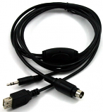GROM AUX 3.5mm and 5V USB Charging Cable for Many Mobile Phones